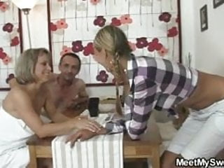 Parents and teens pron - Dude joins his parents and gf foursome