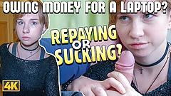 Debt4k. Elegant cutie Alice Klay decides to satisfy loan