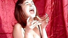 Britney condom bukkake gokkun