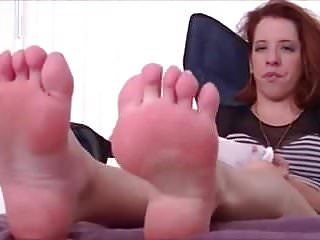 Sexy cristina agulera high arches Redhead with high arched feet