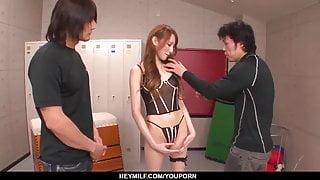 Skinny Mai Shirosaki, sexy trio  - More at Japanesemamas.com