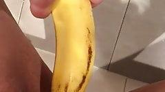 Masturbation with a banana Josefin Ott