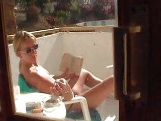 Tarts of pleasure - Topless tart in tenerife flashes her pussy