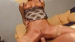 Milf in Stockings and Glasses Sucks and Fucks