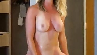 Wife With Gorgeous Body Playing With Toys
