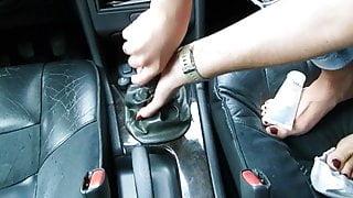 Auto-Fick, Schalthebel, Volvo v70, Frauenfick und Blowjob