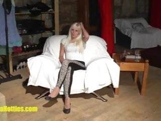 Wifes sexy stripping Sexy blondie does strip at the first casting of her life