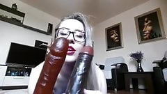 Sexy Blonde Huge Anal Toys