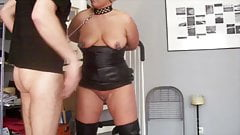 Slave Astrid used bt her Master