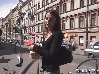 Amateur rides the orgasmatron Petite amateur rides cock at casting