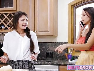 Rosemary-garlic baked chicken breast Adria rae seduces her stepmom in the kitchen while baking