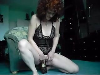 Free bottle fucking shows - Redhead mature bottle show