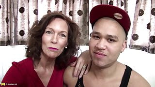 Real mature mom fucked by young not her stepson