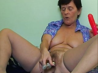 Cum on grandmoms tits Grandmoms hairy pussy