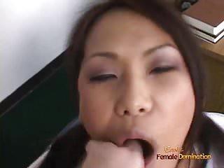 Lesbian threesome knee socks Naughty asian schoolgirl in knee socks lin is obsessed with