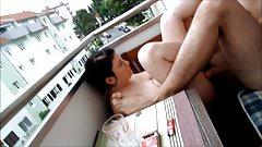 Ficken auf dem Balkon