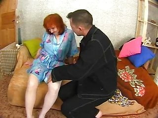 Old man gets ass licked - Russian granny gets her ass licked