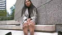 Indian mature stinky feet