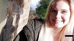 Cute Teen Fuck in a Real Abandoned Castle !