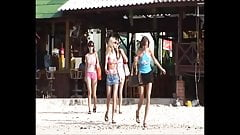 Four Ukrainian girls on vacation