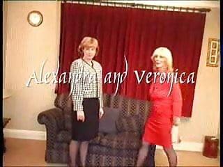 Veronica palmer upskirt Village ladies alexandra and veronica