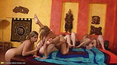 Old and young Lesbians - Orgy