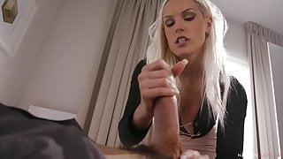 Busty Blanche Bradburry rides Rico's cock - Sex & Kitchen