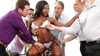 Noemie Bilas Takes Care Of The Sales Crew!