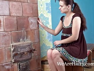 Hot as sex - Hairy babe khatherina gets hot as the fire