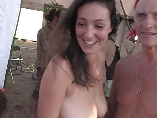 Hard rosc fetish festival - Beautiful girl nude on a festival