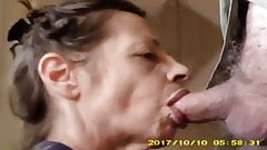 Mature Milf Sucks Dick with a Passion. Nut Snatching Cougar