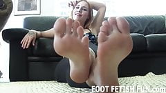 My stinky feet need a good tongue cleaning
