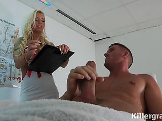 Cock hard looking nurse - Dirty big boobs nurse loves hard cock and cum