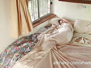Hali atk hairy girl Hairy girl aixa wakes up horny