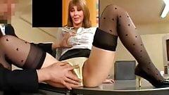 Carol Vorderman tight pants fondled