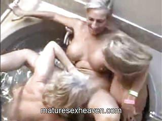 Free hot tub movie mature Three grannys in a hot tub