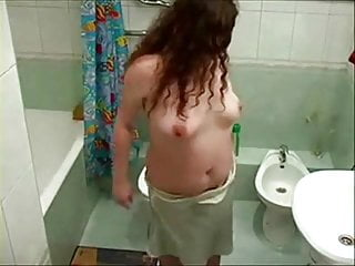 Totally nude teachers Just my chubby girlfriend totally nude in bath room. hidden cam
