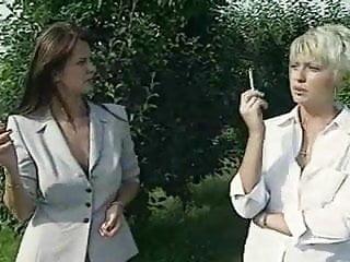 Smoking swingers Lesbian teachers punish smoking schoolgirls