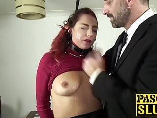 Breast collar chain - Cat collar fucks after slurpy blowjob and gets facialized