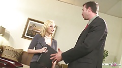 Huge Cock Boss Seduce Secretary Teen Codi to Fuck in Office