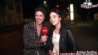 GERMAN STREET CASTING - Girl asks normal guy for sex in car