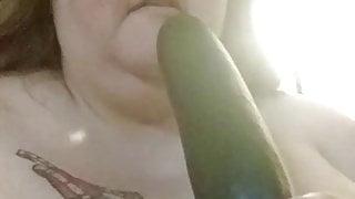 Piggy Cleaning Sucking Cucumber