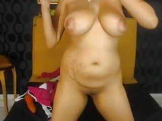 Huge toy in pussy - Big tits lotioned with toy in pussy and ass