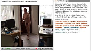 Naked dare in the office