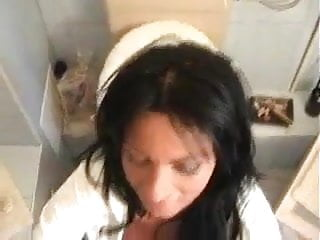 Woman sucks cock at pool - Woman sucks cock while sitting on toilet