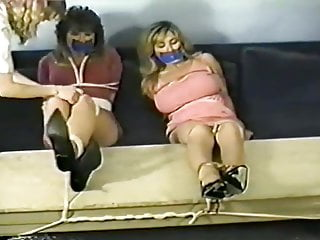 Tied to exam table and fucked - Girls struggle feet tied to table