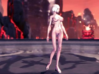 Soul patch shape of pussy hair Blade and soul jin