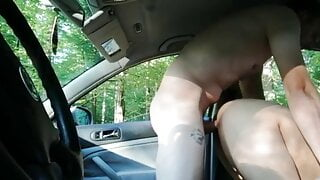 Doggy fuck in car for my cheating wife