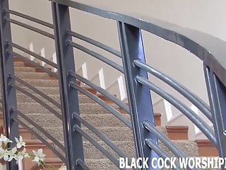 Fuck me with his black cock His big black cock fills me up completely