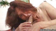 Lewd granny fucking her son in law
